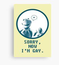 Kermit in Love Canvas Print