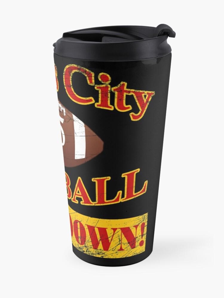 Alternate view of Kansas City Winning Footbal - Touchdown Travel Mug