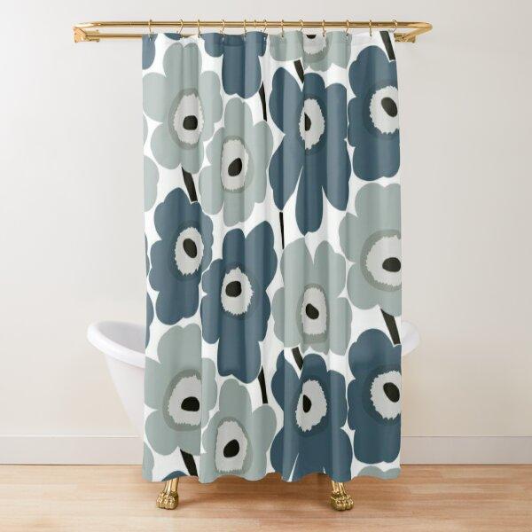 Marimekko blue design Shower Curtain
