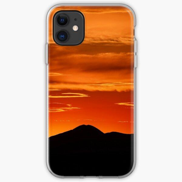 Fire smoke sunset, Mt. Feathertop iPhone Soft Case