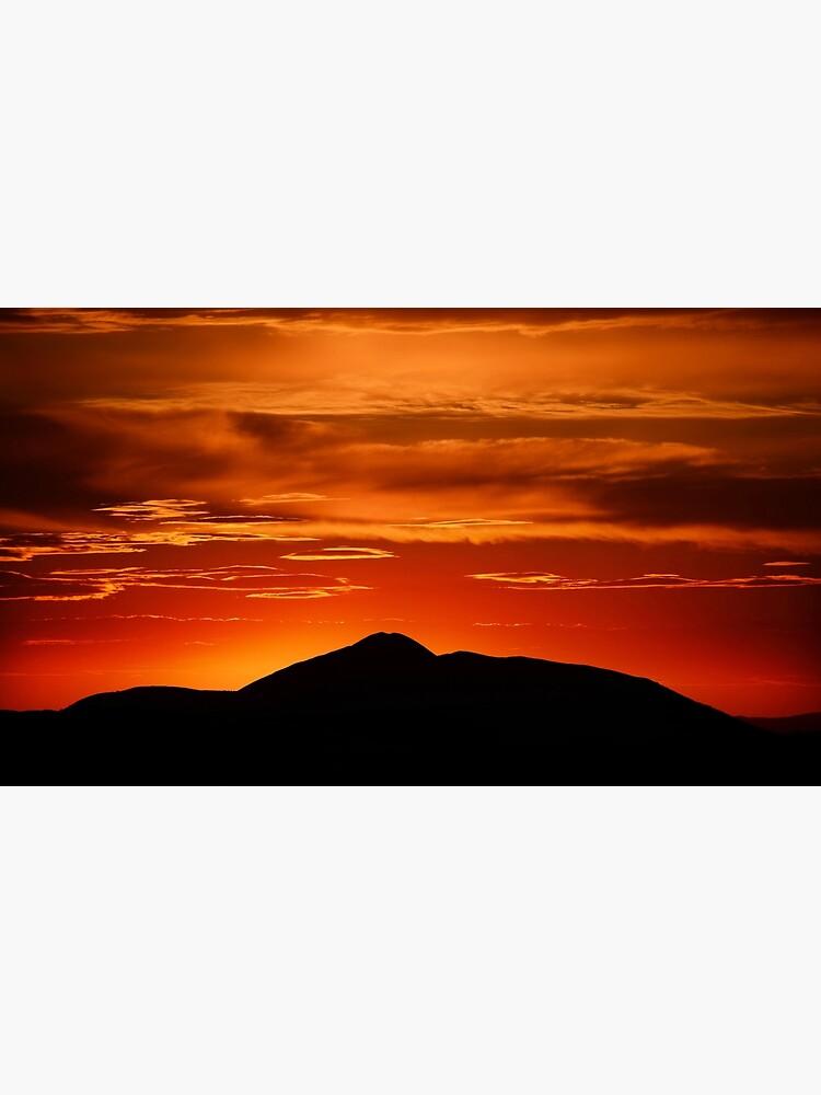 Fire smoke sunset, Mt. Feathertop by kevinmcgennan