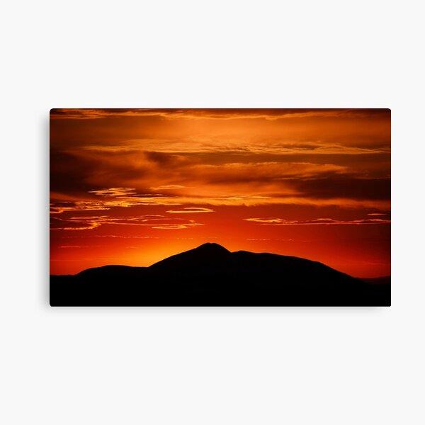 Fire smoke sunset, Mt. Feathertop Canvas Print
