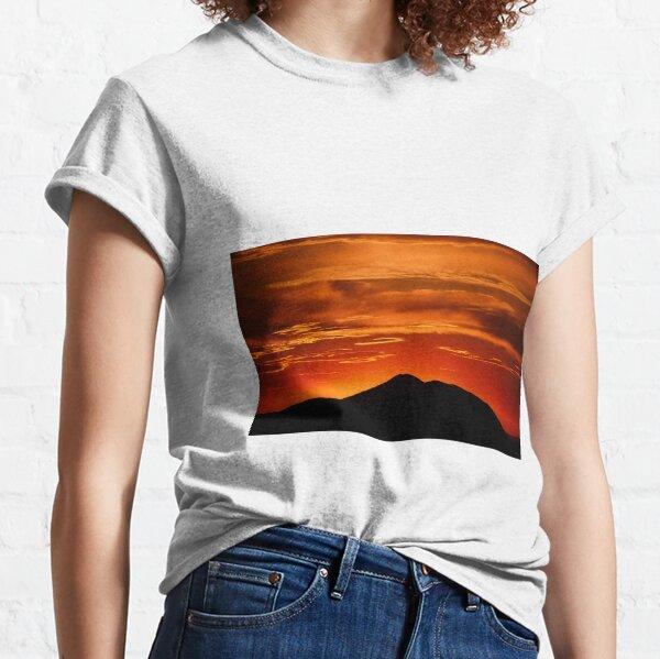 Fire smoke sunset, Mt. Feathertop Classic T-Shirt