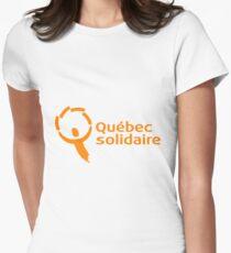 Québec solidaire T-shirt col V femme