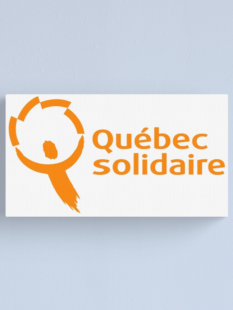 Alternate view of Québec solidaire Canvas Print