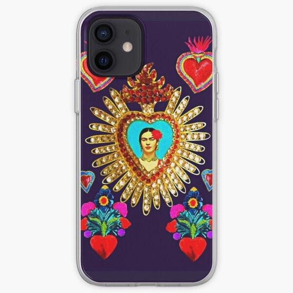 Frida Tin Hearts Mexican Shrine iPhone Soft Case