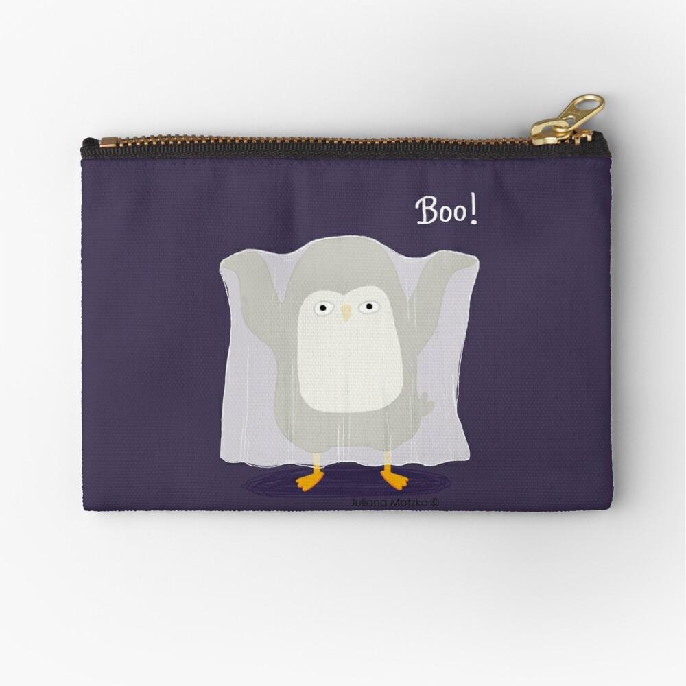 Boo! A Penguin Ghost Zipper Pouch
