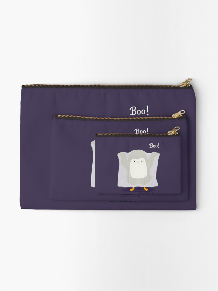 Alternate view of Boo! A Penguin Ghost Zipper Pouch