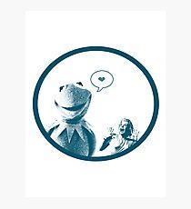 Kermit in Love Photographic Print