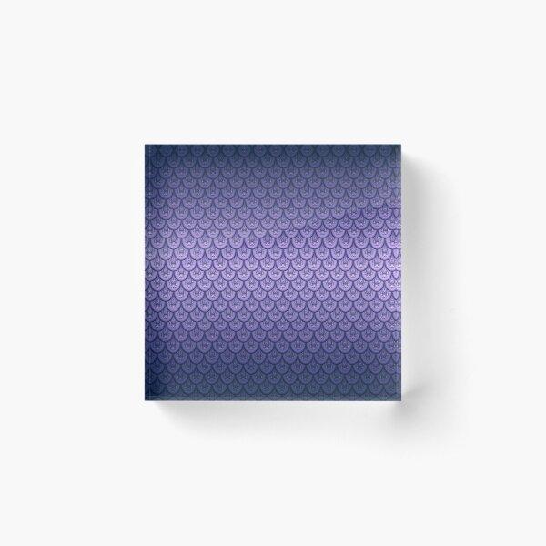 Lavender Dragon Scales Acrylic Block