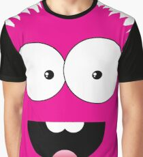 Funny cartoon pink monster Graphic T-Shirt