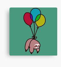 Balloon Sloth Canvas Print