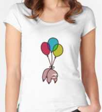 Balloon Sloth Women's Fitted Scoop T-Shirt