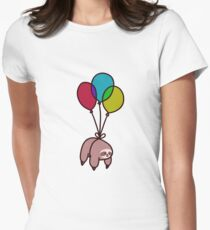 Balloon Sloth Women's Fitted T-Shirt