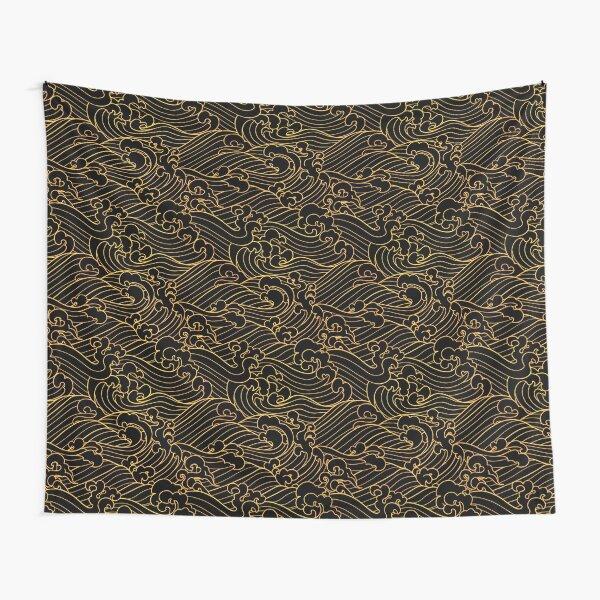 Golden Waves In Black Tapestry