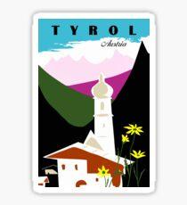 Retro vintage Tyrol Austria travel advertising Sticker