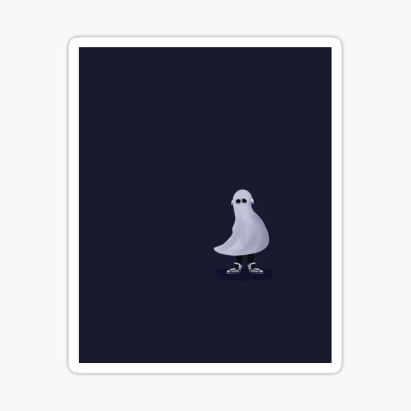 Cute Ghost with Sneakers Sticker