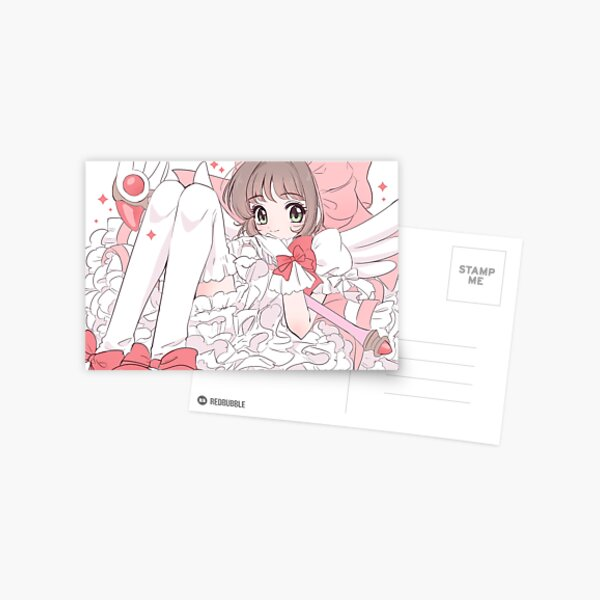 Cardcaptor Sakura Sweet Pink Kinomoto Postcard