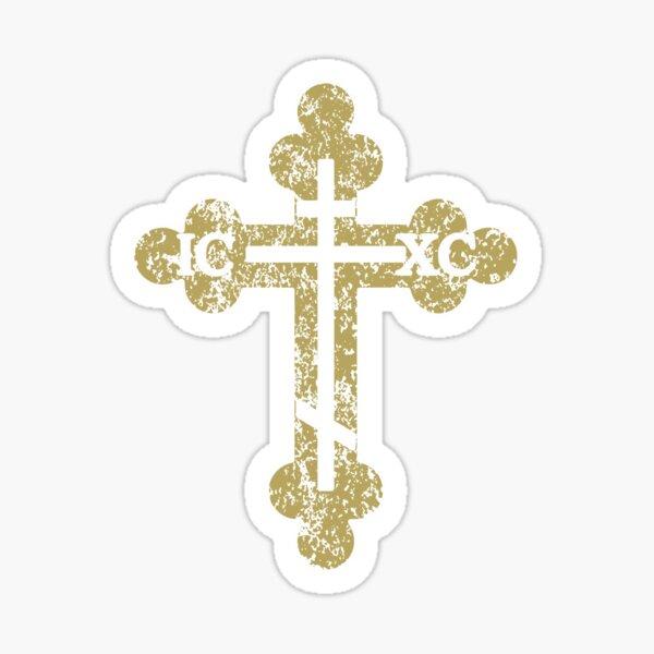 IC XC NIKA Cross Christogram Orthodox Eastern Christian Side Sticker