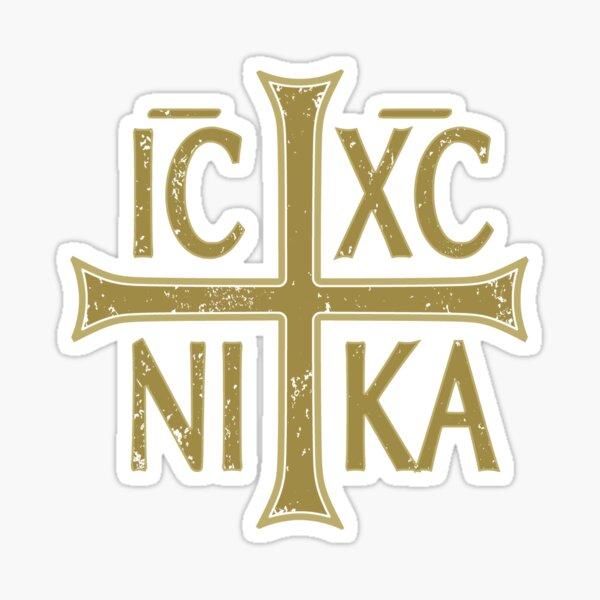 IC XC NIKA Cross Orthodox Eastern Christianity Christogram Side Sticker