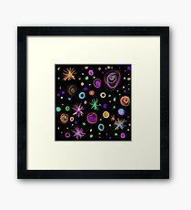 Colourful Firework explosion Framed Print