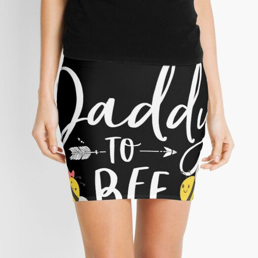 Él o ella Daddy To Bee New Father To Be Camiseta Minifalda