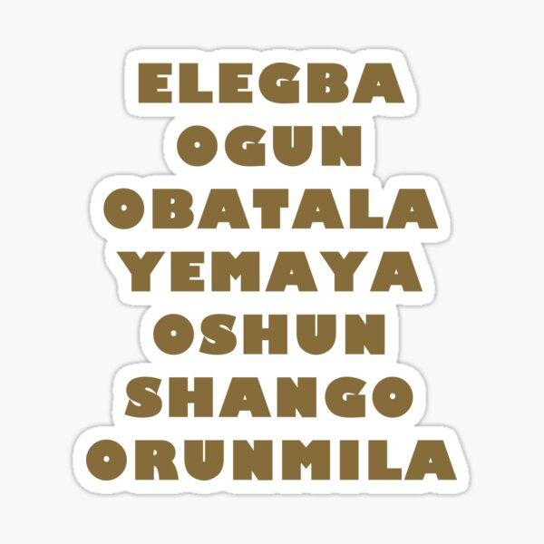 Siete 7 potencias africanas Santería Pegatina