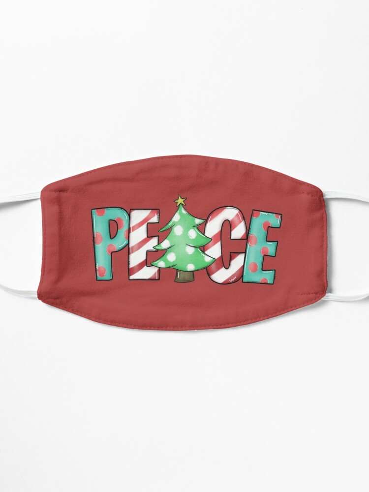 Alternate view of christmas peace Mask