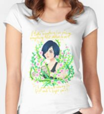 Bak Sun II. by Ane Teruel. Women's Fitted Scoop T-Shirt