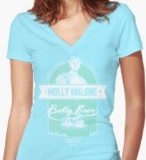 Molly Malone's Pretty Beer Women's Fitted V-Neck T-Shirt