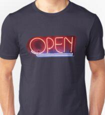 Neon Sign - Open Unisex T-Shirt