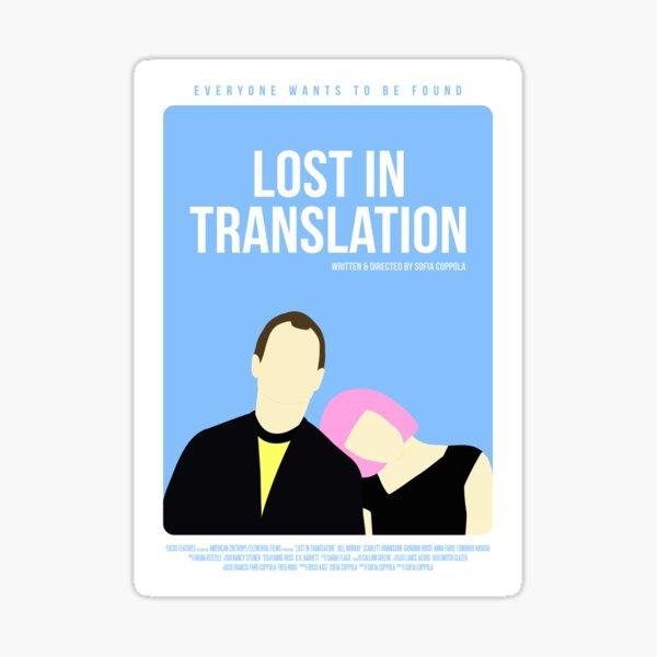 Verloren in der Übersetzung Film Poster Sticker