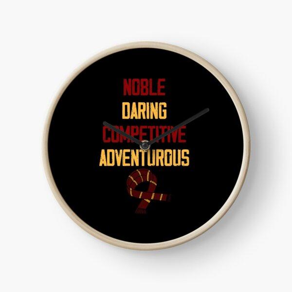 Noble, audacieux, compétitif et aventureux Horloge