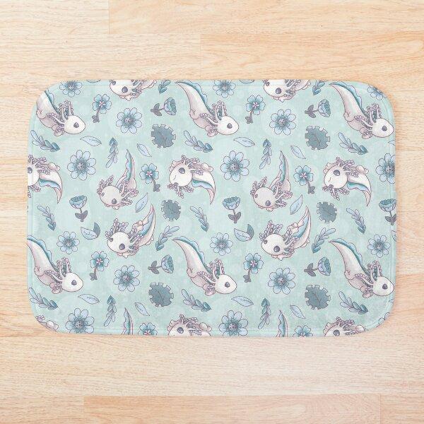 Floral Speckled Axolotl Pattern - Spring Edition Bath Mat