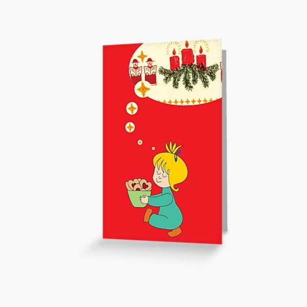 Weihnachtsgrüße rot Grußkarte