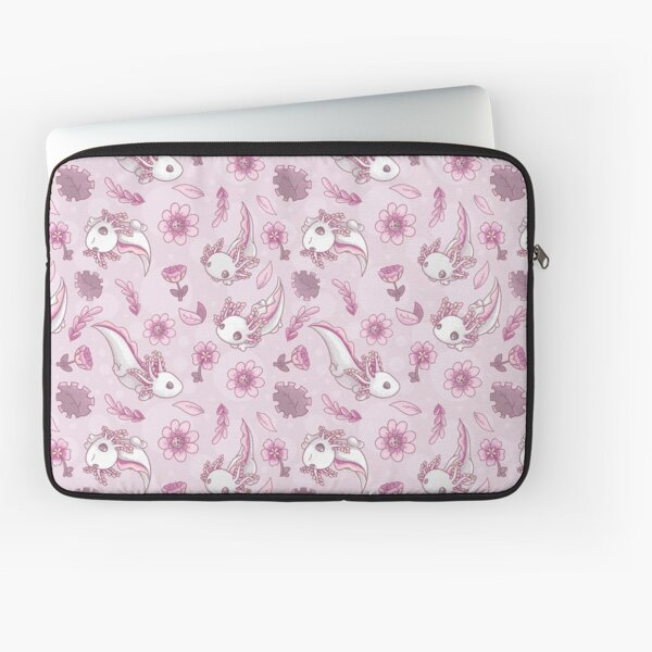 Floral Speckled Axolotl Pattern - Summer Edition Laptop Sleeve