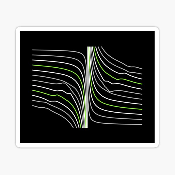 Twin Lines. Sticker
