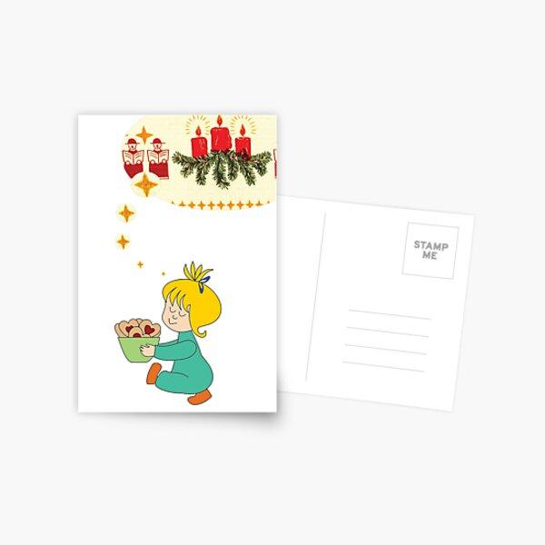 Weihnachtsgrüße weiß Postkarte