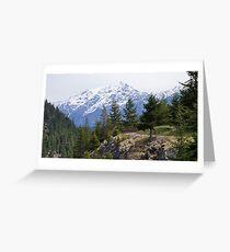 North Cascade Mountain Range, Washington State, USA Greeting Card