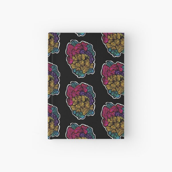 Colourful Coral Doodle Hardcover Journal