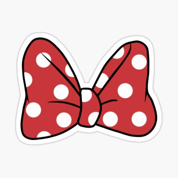 Polka Dot Mouse Bow Sticker