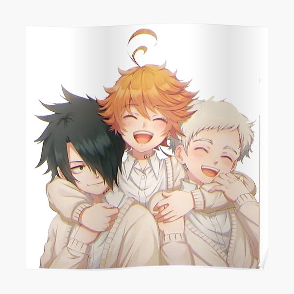 The Promised Neverland : cute Emma Ray & Norman Póster