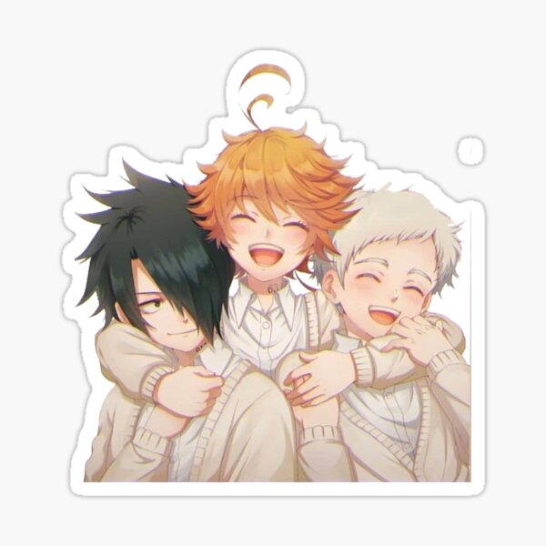 The Promised Neverland : cute Emma Ray & Norman Pegatina brillante