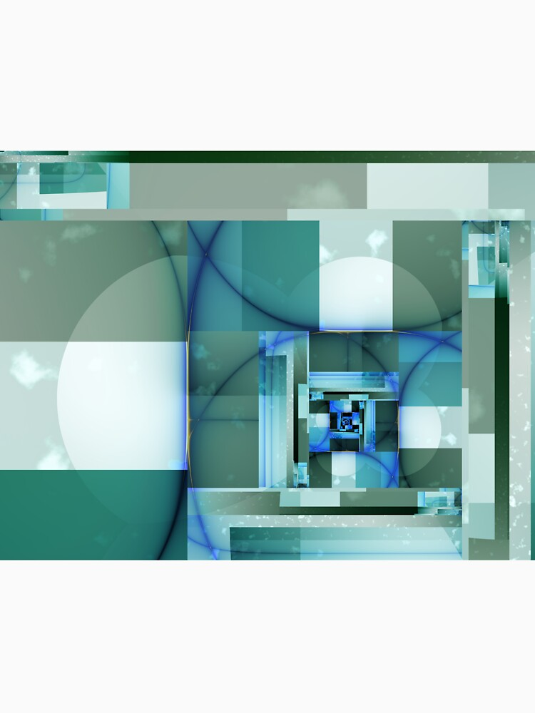 City Abstract - Blue / Teal by garretbohl