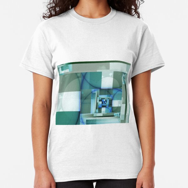 City Abstract - Blue / Teal Classic T-Shirt