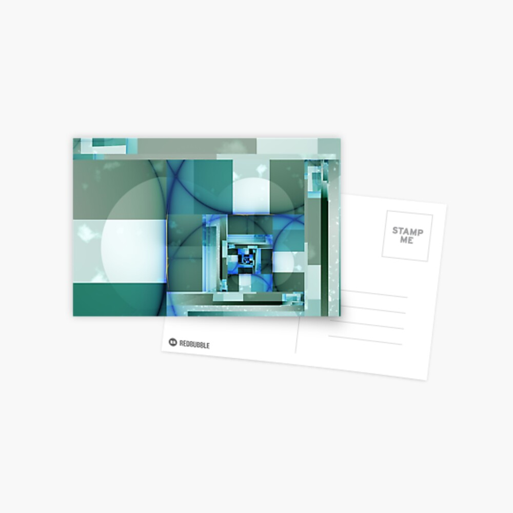 City Abstract - Blue / Teal Postcard