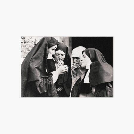 Smoking Nuns Art Board Print