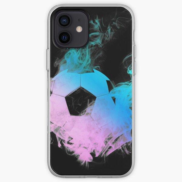 Fussball mit bunten Flammen iPhone Flexible Hülle