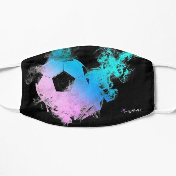 Fussball mit bunten Flammen Maske