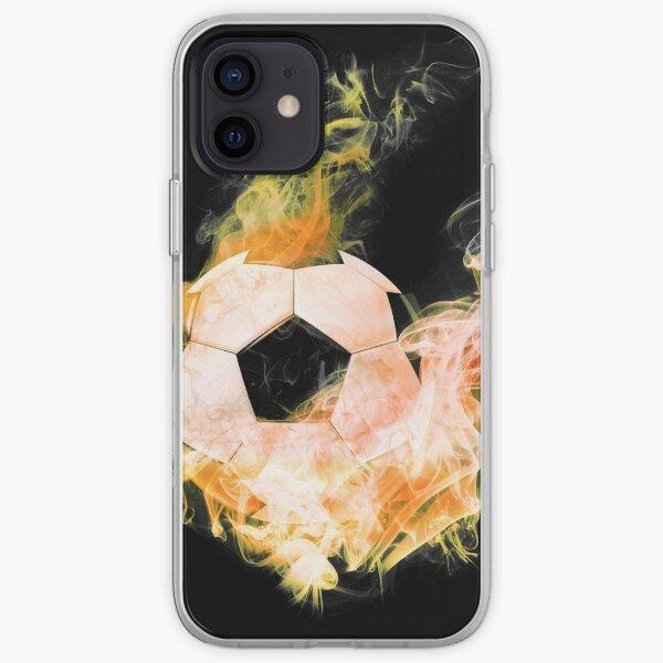 Fussball in Flammen iPhone Flexible Hülle